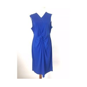 Catherine Malandrino Dress Blue Solid Knotted XL